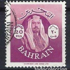 Sellos: BAHREIN 1966 - EMIR SALMAN BIN HAMED - SELLO USADO. Lote 206437253