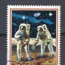Sellos: DUBAI 1969 - ESPACIO, APOLO 11, AÉREO - SELLO USADO. Lote 206985310