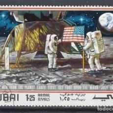 Sellos: DUBAI 1969 - ESPACIO, APOLO 11 - SELLO USADO. Lote 206985361