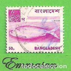 Sellos: BANGLADESH - MICHEL 63 - YVERT 86 - MOTIVOS NACIONALES - HILSA. (1976).. Lote 207213405