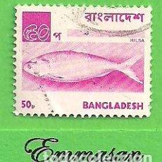 Sellos: BANGLADESH - MICHEL 63 - YVERT 86 - MOTIVOS NACIONALES - HILSA. (1976).. Lote 207213605