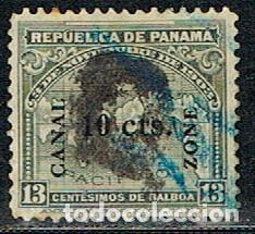 CANAL DE PANAMA Nº 27 (AÑO 1911), USADO (Sellos - Extranjero - Asia - Otros paises)
