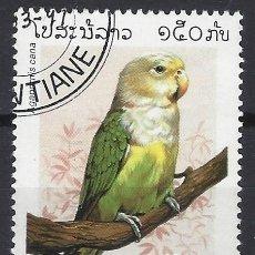 Selos: LAOS 1997 - FAUNA, AVES, LORO INSEPARABLE MALGACHE - SELLO USADO. Lote 210582123