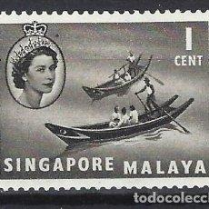 Selos: MALASIA / SINGAPUR 1955 - ISABEL II Y BARCOS -SELLO NUEVO C/F*. Lote 210680779