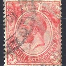 Sellos: STRAITS SETTLEMENTS 1912-23 - REY JORGE V - SELLO USADO. Lote 210836286