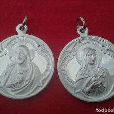 Sellos: MEDALLA 2 CARAS.JESUS Y VIRGEN MARÍA.ALUMINIO.NUEVA,3 CM DIAMETRO. Lote 211482499