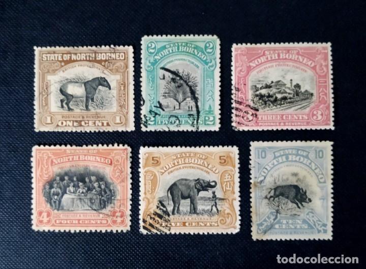 ANTIGUOS SELLOS DE BORNEO DEL NORTE 1909, MOTIVOS LOCALES (Sellos - Extranjero - Asia - Otros paises)