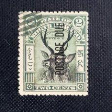 Sellos: ANTIGUO SELLO DE BORNEO DEL NORTE 1897, MOTIVOS LOCALES, SOBREIMPRESO POSTAGE DUE. Lote 212430131