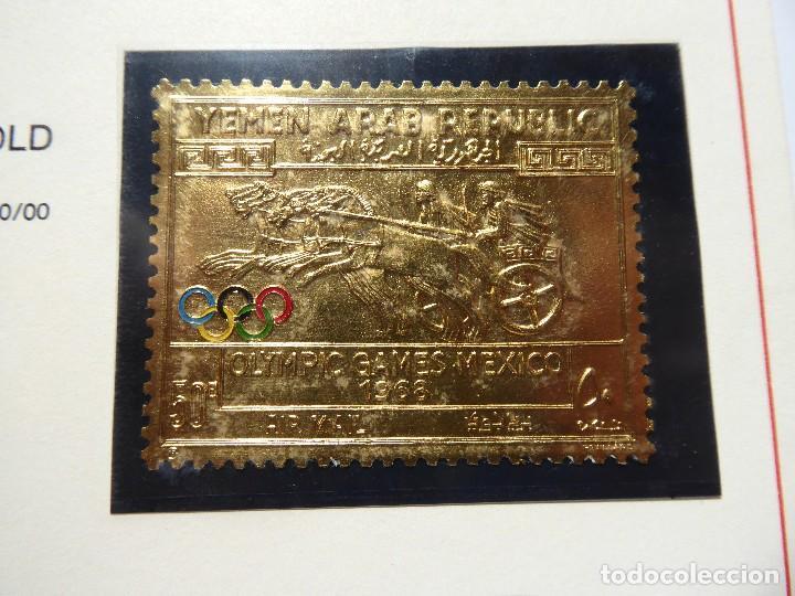 Sellos: SELL-1. SELLO ESTAMPADO EN ORO FINO. YEMEN ARAB REPUBLIC. XIX OLIMPIC GAMES MEXICO 1968. 0,6 GRS. - Foto 4 - 213792612