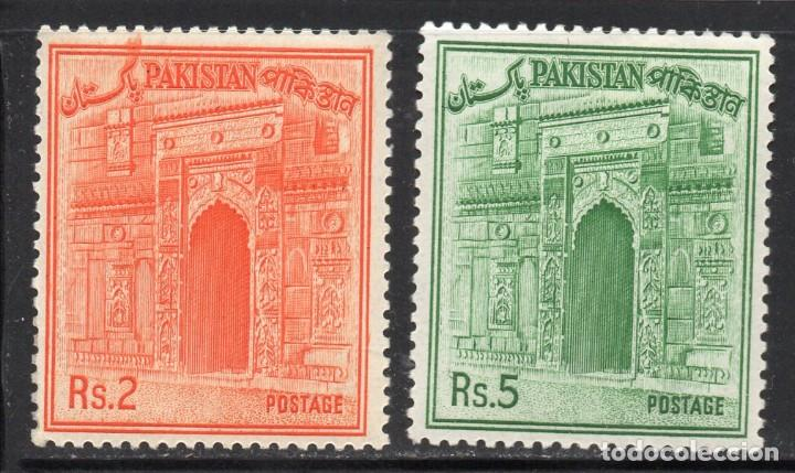 PAKISTAN/1963/MH/SC#143-144/CHOTA SONA MASJID GATE (Sellos - Extranjero - Asia - Otros paises)