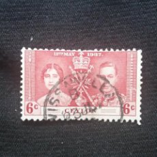Sellos: GRAN BRETAÑA, CEYLON 6C, 12TN MAY, 1937,. Lote 222273607