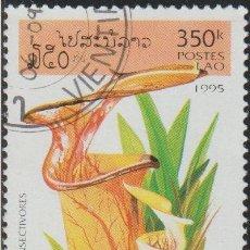 Sellos: LAOS 1995 SCOTT 1239 SELLO * FLORA PLANTAS INSECTIVORAS SARRACENIA FLAVA MICHEL 1477 YVERT 1193. Lote 235319220