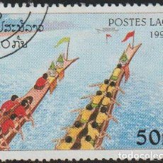 Sellos: LAOS 1997 SCOTT 1355 SELLO * DEPORTES REMO TEAM IN RED SHIRTS, TEAM IN YELLOW SHIRTS ROWING UPWARD. Lote 235319525