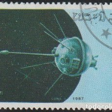 "Sellos: LAOS 1987 SCOTT 786 SELLO * ESPACIO NAVE ESPACIAL ""LUNA 1"" MICHEL 993 YVERT 761 STAMPS TIMBRE. Lote 235477395"