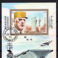 Sellos: SHARJAH , ,SOUVENIR-SHEET, ,1972, MICHEL BL96. Lote 235694955