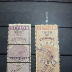 Sellos: (CEILÁN) FOREIGN BILL. Lote 236467355