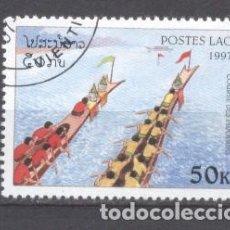 Sellos: LAOS, PIRAGUISMO, 1997, PREOBLITERADO. Lote 236560975