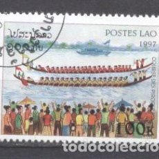 Sellos: LAOS, PIRAGUISMO, 1997, PREOBLITERADO. Lote 236561010