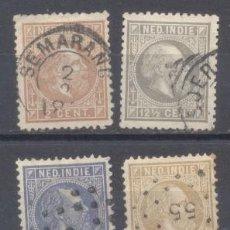 Sellos: INDIA-HOLANDESA, USADOS, 2 PERFORADOS. Lote 239458780