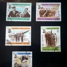 Sellos: ARABIA - KATHIRI 1967 PRESIDENTE KENNEDY Y EL COSMOS. Lote 239870030