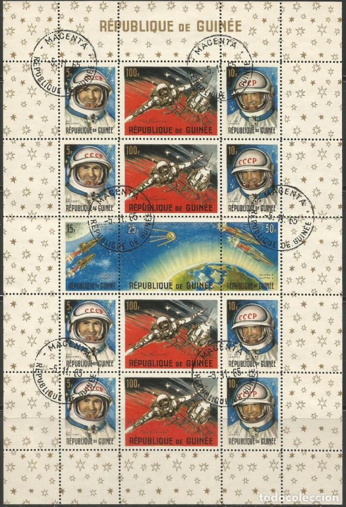 REPÚBLICA DE GUINEA - 1965 - BLOQUE / HOJA - VIAJE ESPACIAL CON BELYAYEV Y LEONOV (Sellos - Extranjero - Asia - Otros paises)