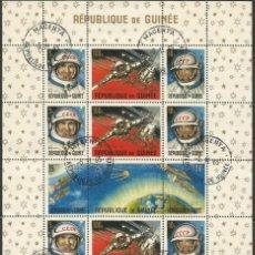 Sellos: REPÚBLICA DE GUINEA - 1965 - BLOQUE / HOJA - VIAJE ESPACIAL CON BELYAYEV Y LEONOV. Lote 243687945