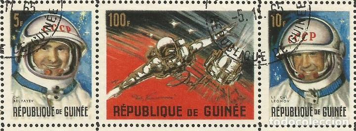 Sellos: REPÚBLICA DE GUINEA - 1965 - BLOQUE / HOJA - VIAJE ESPACIAL CON BELYAYEV Y LEONOV - Foto 2 - 243687945