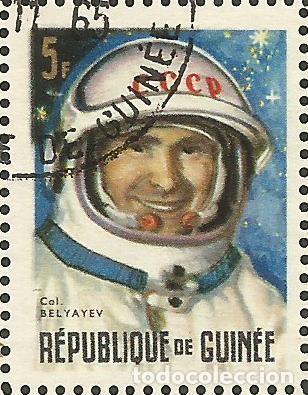 Sellos: REPÚBLICA DE GUINEA - 1965 - BLOQUE / HOJA - VIAJE ESPACIAL CON BELYAYEV Y LEONOV - Foto 3 - 243687945