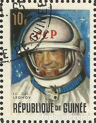 Sellos: REPÚBLICA DE GUINEA - 1965 - BLOQUE / HOJA - VIAJE ESPACIAL CON BELYAYEV Y LEONOV - Foto 4 - 243687945