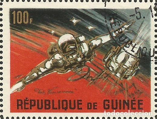 Sellos: REPÚBLICA DE GUINEA - 1965 - BLOQUE / HOJA - VIAJE ESPACIAL CON BELYAYEV Y LEONOV - Foto 5 - 243687945