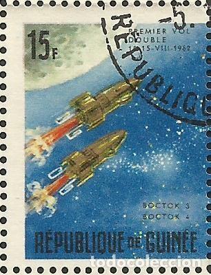 Sellos: REPÚBLICA DE GUINEA - 1965 - BLOQUE / HOJA - VIAJE ESPACIAL CON BELYAYEV Y LEONOV - Foto 7 - 243687945