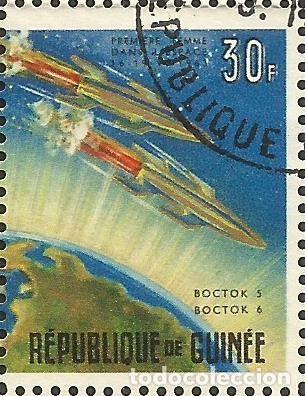 Sellos: REPÚBLICA DE GUINEA - 1965 - BLOQUE / HOJA - VIAJE ESPACIAL CON BELYAYEV Y LEONOV - Foto 9 - 243687945