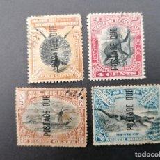 Sellos: BORNEO DEL NORTE, TASAS, YVERT 12, 13,15 Y 16. Lote 244695940