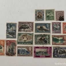 Selos: 16 SELLOS ANTIGUOS DE CEYLAN/ 16 OLD USED STAMPS FROM CEYLAN (262). Lote 245305360