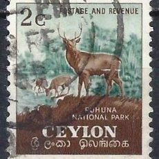 Selos: CEYLÁN 1951-54 - MOTIVOS LOCALES, PARQUE NACIONAL DE RUHUNA - USADO. Lote 246131515