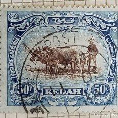 Sellos: SELLO KEDAH (PENÍNSULA DE MALASIA) 1932 MALAYO ARANDO. Lote 246191935