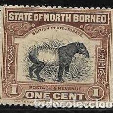 Sellos: BORNEO DEL NORTE, YVERT 131 NUEVO CON GOMA,FAUNA. Lote 254584860
