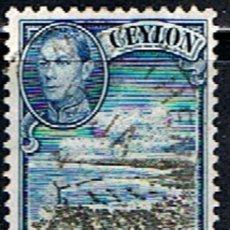 Sellos: CEYLAN. GRAN BRETAÑA // YVERT 254 // 1937-49 ... USADO. Lote 260906900