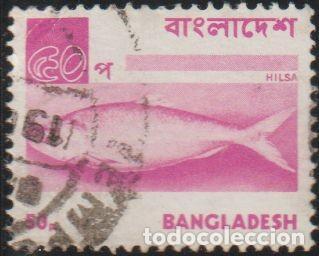 BANGLADESH 1973 SCOTT 48 SELLO º FAUNA PECES HILSA / ILISH FISH (TENUALOSA ILISHA) MICHEL 28 YV. 33 (Sellos - Extranjero - Asia - Otros paises)