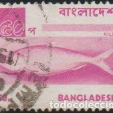 Sellos: BANGLADESH 1973 SCOTT 48 SELLO º FAUNA PECES HILSA / ILISH FISH (TENUALOSA ILISHA) MICHEL 28 YV. 33. Lote 262929160