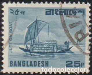 BANGLADESH 1982 SCOTT 169 SELLO º BARCOS VELERO JUTE ON BOAT MICHEL 164 YVERT 170A STAMPS TIMBRE (Sellos - Extranjero - Asia - Otros paises)