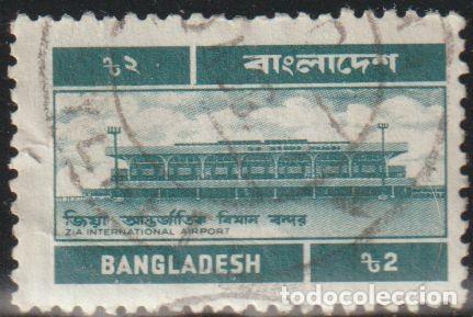 BANGLADESH 1983 SCOTT 242 SELLO º SERVICIO POSTAL, AEROPUERTO ZIA INTERNATIONAL AIRPORT MICHEL 208 (Sellos - Extranjero - Asia - Otros paises)