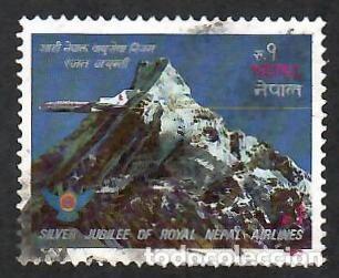 LIQUIDACIÓN. NEPAL 1983, ROYAL NEPAL AIRLINES. MONTAÑAS DEL HIMALAYA. AVIACIÓN. USADO. (Sellos - Extranjero - Asia - Otros paises)