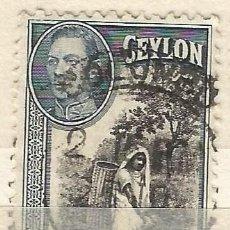 Sellos: CEYLAN - 1938 - JORGE VI - USADO. Lote 269501863