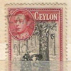 Sellos: CEYLAN - 1938 - JORGE VI - USADO. Lote 269501868