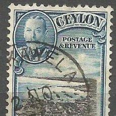 Sellos: CEYLAN - 1935 - JORGE V - USADO. Lote 269501913