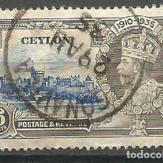 Sellos: CEYLAN - 1935 - JORGE V - USADO. Lote 269501918