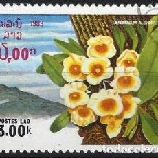 Sellos: LAOS 1983 - FLORA, ORQUÍDEAS - USADO. Lote 270209598