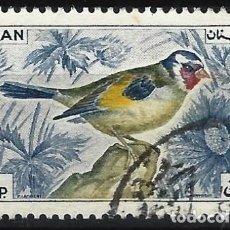 Selos: LÍBANO 1965 - FAUNA, AVES, JILGUERO EUROPEO - USADO. Lote 270232748