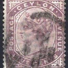 Sellos: CEYLÁN 1886 - REINA VICTORIA, 5 C PÚRPURA - USADO. Lote 270242573